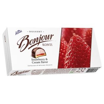 Десерт Конти Бонжур клубника со сливками 232г - купить, цены на Ашан - фото 4
