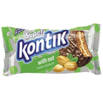Superkontik Chocolate Glazed Nut Sandwich Cookie - buy, prices for Furshet - image 1