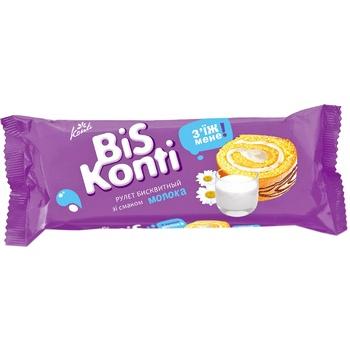 Рулет Konti BisKonti бисквитный со вкусом молока 175г