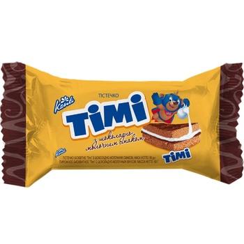 Тістечко Конті Timi з шоколадно-молочним смаком 50г - купити, ціни на Фуршет - фото 1