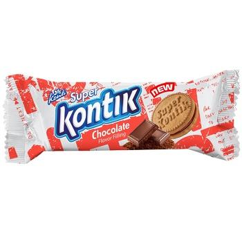 Печиво-сендвіч Конті Super Kontik з начинкою зі смаком шоколаду 76г