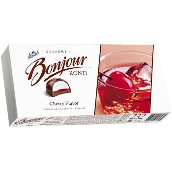 Dessert Konti Bonjour cherry 232g in a box Ukraine