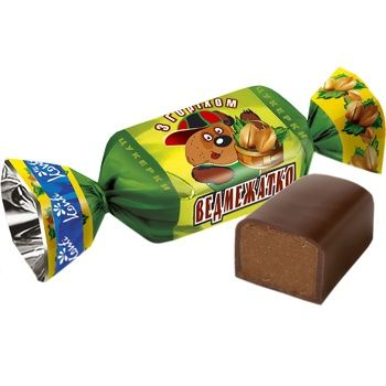 Конфеты Konti Медвежонок с орехом