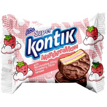 Печенье Konti Super Kontik с нач маршм вкус клубн 30г - купить, цены на Фуршет - фото 1