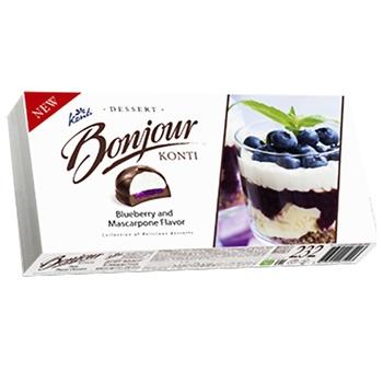 Десерт Konti Boinjour зі смаком чорниця-маскарпоне 232г