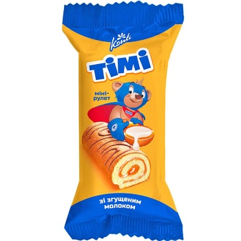 Konti Timi with condensed milk mini-roll biscuit 50g - buy, prices for Furshet - image 1