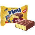 Конфеты Konti Тими вафельные со вкусом банана весовые