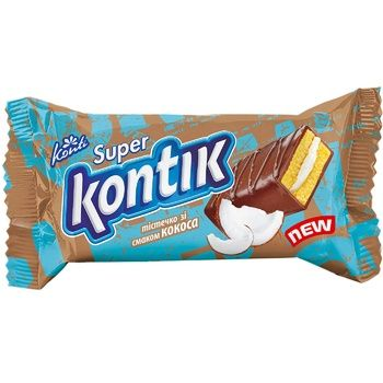 Conti Super Kontik biscuit cake with coconut flavor 50g - buy, prices for Furshet - image 1