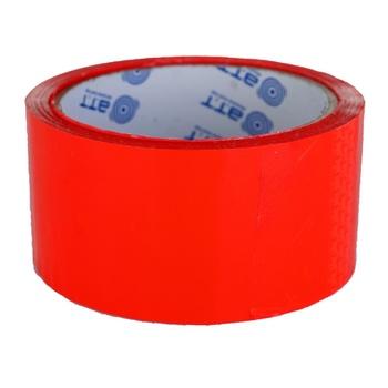 Лента клейкая красная 48ммх50м - купить, цены на Ашан - фото 1