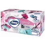 Салфетки бумажные Zewa Deluxe трехшаровые 90шт дизайн в ассортименте - купить, цены на Таврия В - фото 7