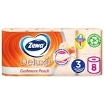 Туалетная бумага Zewa Deluxe Персик персиковая трехслойная 8шт