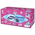 Салфетки Zewa Everyday косметические для лица 2 слоя 100шт