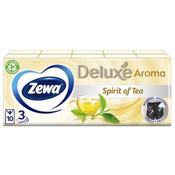 Платочки бумажные Zewa Deluxe Perfume трехслойные 10шт