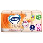Туалетная бумага Zewa Deluxe Персик трехслойная 16шт
