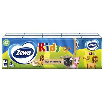 Платочки носовые Zewa Kids 10шт