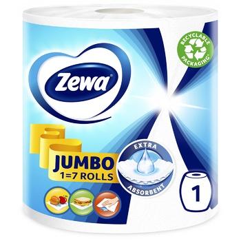 Рушники кухонні Zewa Design Jumbo паперові - купити, ціни на Ашан - фото 1