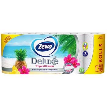 Папір туалетний Zewa Deluxe Ромашка білий тришаровий 8шт - купити, ціни на Novus - фото 1