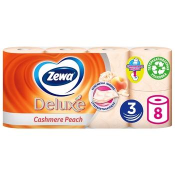 Туалетная бумага Zewa Deluxe Cashmere Peach трехслойная 8шт