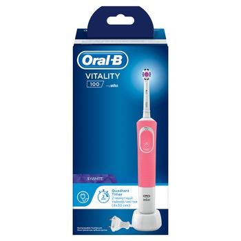 Електрична зубна щітка Oral-B D100 Vitality 3D White рожева - купити, ціни на CітіМаркет - фото 5