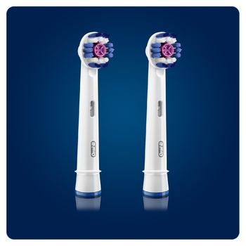 Насадки для електричних щіток Oral-B 3D White 2шт - купити, ціни на Восторг - фото 2