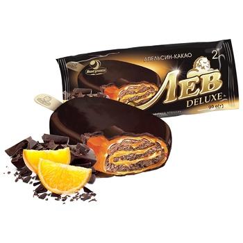 Мороженое Ласунка Лев Deluxe апельсин 95г - купить, цены на Фуршет - фото 1