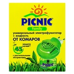 Picnic Family Electrofumigator From Mosquitoes 45nights 30ml