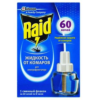 Raid For Electrofumigators Liquid Mosquito Repellent 60 Nights 45ml - buy, prices for Novus - image 1