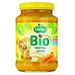 Ovko for children from 4 months with chicken-carrot puree 190g