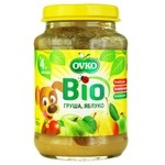 Ovko for children from 4 months with pear-apple puree 190g