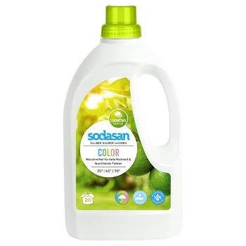Средство Sodasan для стирки цветных вещей со смягчителем воды 1.5л