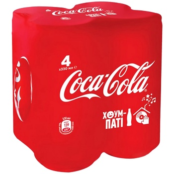 Coca-cola carbonated beverage 4*330ml