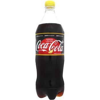 Напиток Coca-Cola Zero лимон сильногазированный 1л