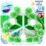 Блок для очистки унитаза Domestos Power 5+ Зеленый чай и свежесть лимона
