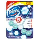 Блок для унитаза Domestos Power 5 с хлором кристальная чистота 55г