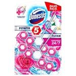 Блок для туалета Domestos Power 5 Роза и Жасмин 2шт*55г