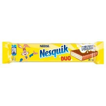 Вафля NESTLÉ® NESQUIK® DUO в молочном шоколаде 26г