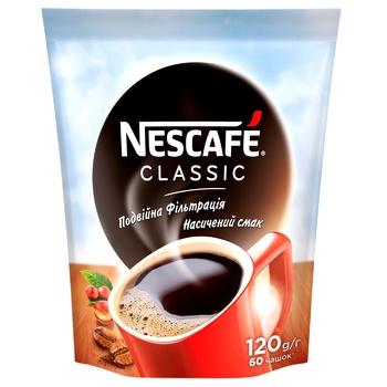 Кофе NESCAFÉ® Classic растворимый 120г - купить, цены на Novus - фото 1
