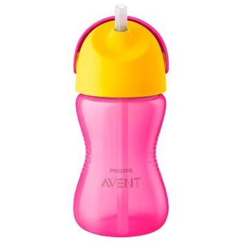 Чашка Philips Avent з гнучкою трубочкою 12 міс+ 300мл