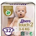Diaper Libero 2 for children 3-6kg 32pcs Sweden