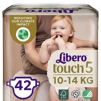 Libero Touch 5 diapers for children 10-14kg 42 pieces - buy, prices for CityMarket - photo 1