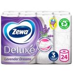 Туалетний папір Zewa Deluxe з ароматом лаванди 3 шари 24 рулонів