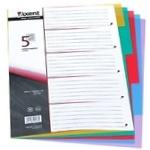 Розділювач сторінок Axent кольоровий 5 розділів