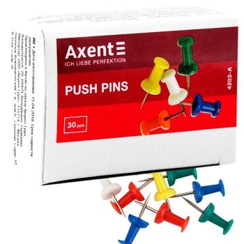 Кнопки Axent цветные 50шт - купить, цены на МегаМаркет - фото 1