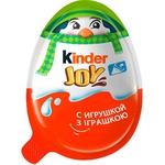 Яйцо Kinder Joy Классический с двухслойной пастой на основе молока и какао и вафельными шариками покрытыми какао с молочным кремом внутри и с игрушкой 20г - купить, цены на Novus - фото 3
