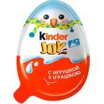 Яйцо Kinder Joy Классический с двухслойной пастой на основе молока и какао и вафельными шариками покрытыми какао с молочным кремом внутри и с игрушкой 20г - купить, цены на Novus - фото 2