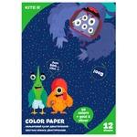 Бумага цветная А4 Kite Jolliers 12л 12цв