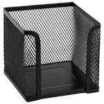 Куб для паперу Axent кругла металеваий чорний 100x100x100мм