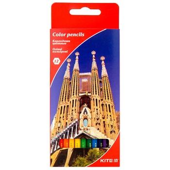 Карандаши цветные Kite Города 12шт
