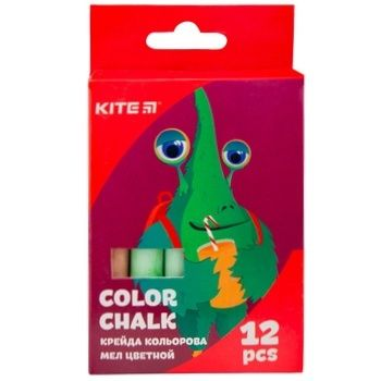 Мел Kite Jolliers цветная 12шт