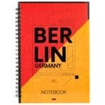 Axent Berlin Notebook A5 spiral 96 sheets cell